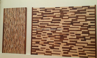 hot sale natural real wood mosaic wall panel for interior decoration