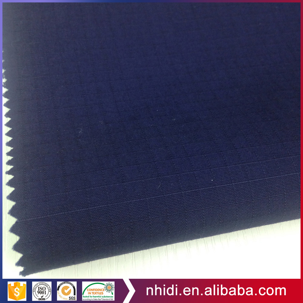 Plain dyed water proof and easy care tc cvc ribstop fabric