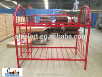 new design red metal bunk bed