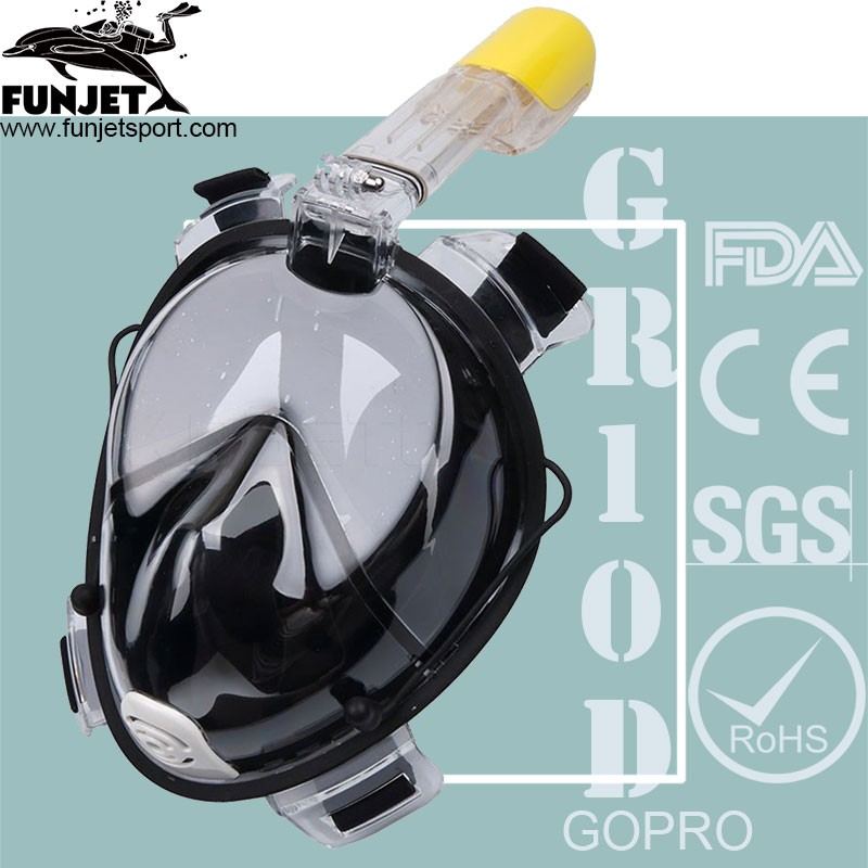 2017 New Arrivals Easy Breathing Full Face Snorkel Mask By Tower With Gopro Mount