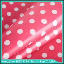 dot printing 600D woven polyester clear PVC fabric for furniture cover
