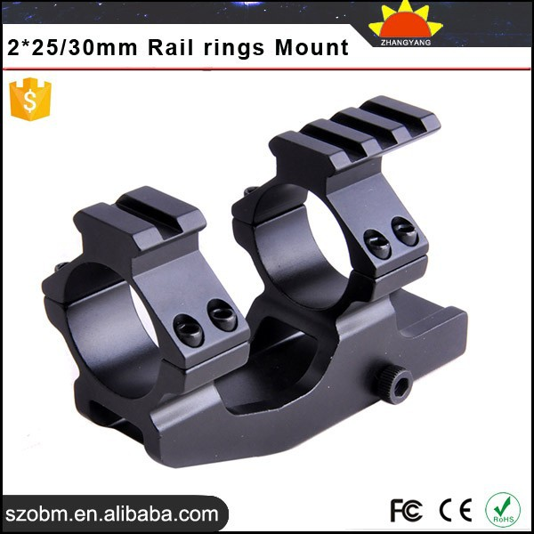 25/30mm Adjustable daul Rings Quick Release With 21mm Rail scope mount