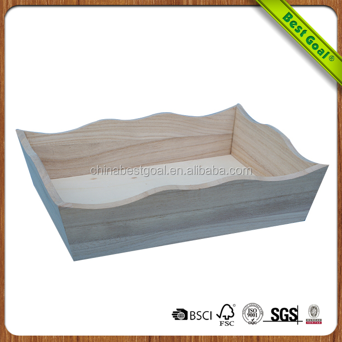 Pine new design wholesale wood tray in bulk