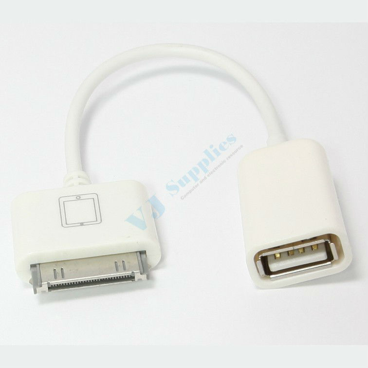 30Pin To Female USB Host OTG Cable Adapter Connector For iPhone iPad 1 2 3 4