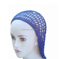 muslim hijab fashion blue kintted malaysia hat/cap women