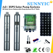 3 Inches solar water pump Brushless DC Motor within MPPT controller for agriculture