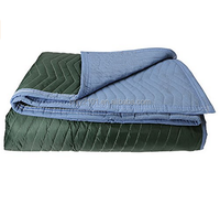 Furniture sofa covers green polyester fabric moving blanket/moving pad