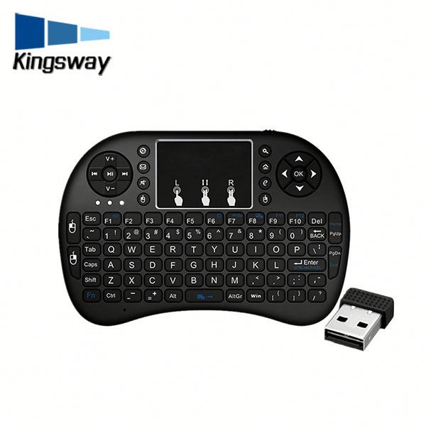 Fashionable design small size i8 glass keyboard for android tv box