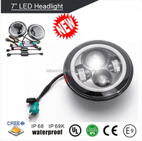 2016 Hot sale 7inch 80W round led headlight 12v 24v for jeep