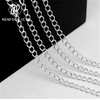 Renfook jewelry findings curb chain 925 sterling silver chain roll