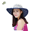 New Product Distributor Wanted Leather Rope Knitted Wide Brim Foldable Women Straw Hat