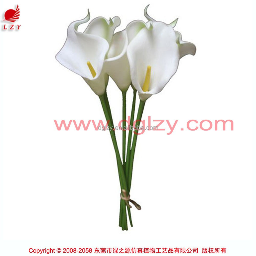 Wholesale decorative artificial table calla lily flowers for floral arrangement