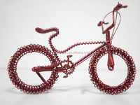 2015 promotional aluminum bicycle design bicycle shape model handmade wicker model love gift