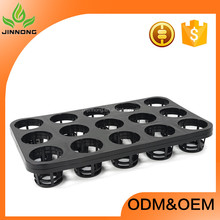 15 cells black quality flower pot tray wholesale