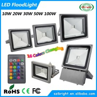 10W 20W 30W 50w 100W RGB christmas color changing outdoor led flood light with remote contrlled garden landscape fountain light
