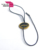Custom plastic name tag holder/plastic string lock tag/plastic label tag