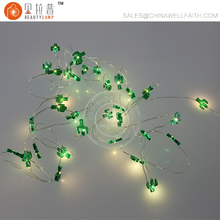 5M 50 cactus LED fairy copper wire decoration string lights
