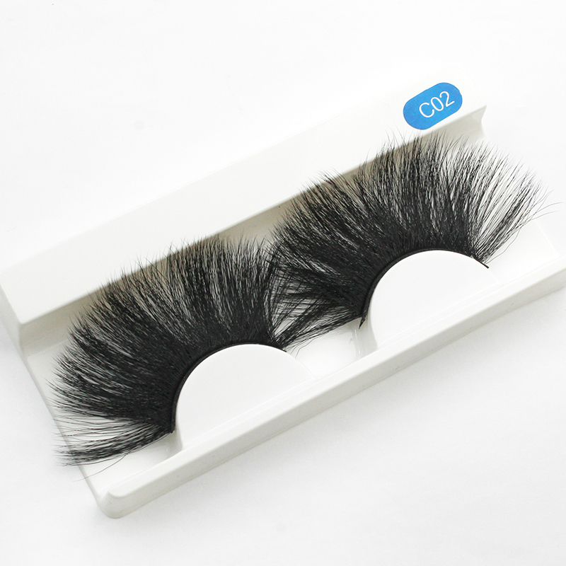 25mm Wholesale Lashes 5D Synthetic Hair Premium Silk False Eyelash False eyelashes <strong>C02</strong>