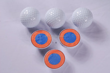 Colorful logo customized cheap promotional four-layer golf ball