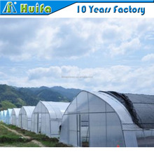 Tropical farming galvanized frame tunnel Shade netting greenhouse