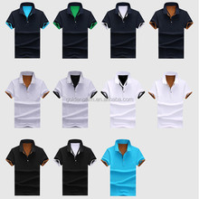 2016 OEM service wholesale color combination polo shirt camisa polo 95 cotton /5 elastane polo factory