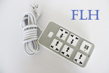 High quality samrt universal 4 gang usb extension socket