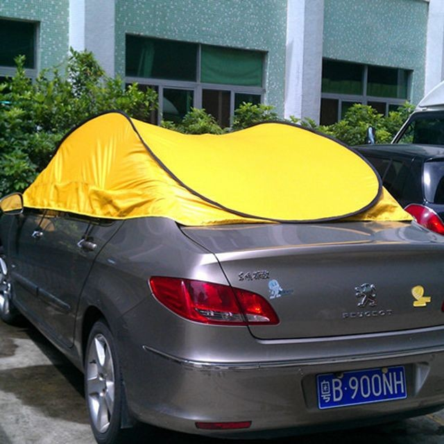 Car Cover Tent : Folding waterproof car cover tent pop up for