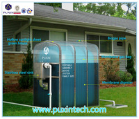 China Puxin Hot Sale Family Size Portable Assembly Membrane Biogas Plant for Families to Generate Electricity