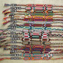 Boho Ethnic woven cord bracelet jewelry fashion handmade friendship bracelet 2014 hot selling color cord braided beach jewelry