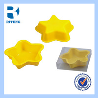 2014 new design star shape gun cake pan silicone bowtie cake mold