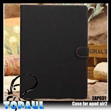 book style business tablet Blank sublimation leather case for ipad air 2