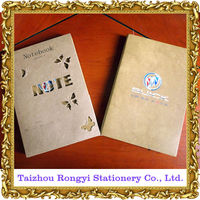 Pu leather cover notebook with customized logo printing