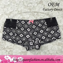 Hottest flower print boy briefs for women boy shorts for women female underwear