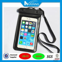 wholesale handphone accessories pvc waterproof bag for cellphone with lanyard