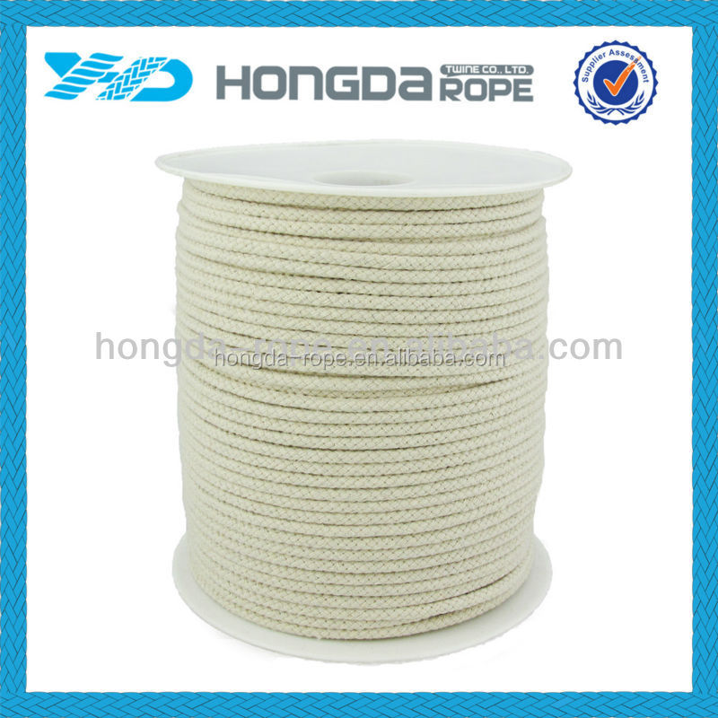 4mm X 200 m white cotton rope,diamond braid rope package rope
