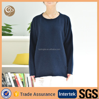O neck long sleeve wool handmade sweater design for girl
