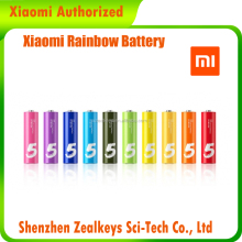10PCS Set 7 Years Long Keep Colorful AA 1.5v Xiaomi Alkaline battery