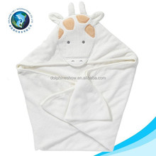 2016 Fashion cartoon bamboo baby hooded towel custom soft 100% cotton terry cloth animal baby towel