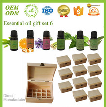 Natural 10ml/6pcs diffuser therapeutic grade storage box massage essential oil set