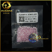 factory direct sell 1.8 mm loose pink round loose zirconium stone