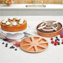 3pcs/Set 9'' Cake Mold Copper Pan Chef Perfect Baking Cake Pan Magic Middle Pockets Cutters Baking Kitchen Tools DIY Cake Pan