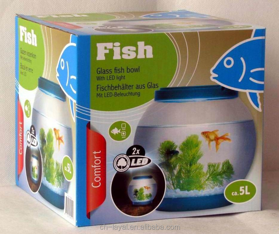 Hot Sale Kids toy 1.3 gallon glass fish bowl table fish tank