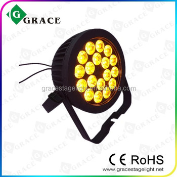 18*18W 6in1 RGBWAUV with powercon in and out flat slim pro led par