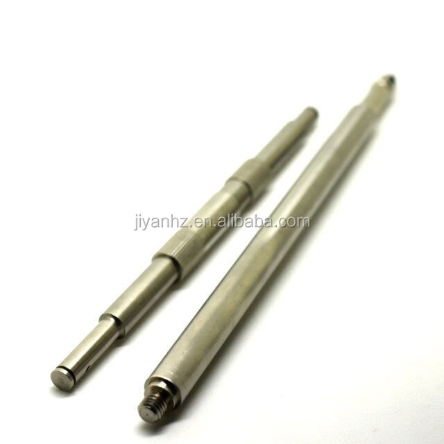 CNC turning machining OEM SS300 long shaft with thread both ends