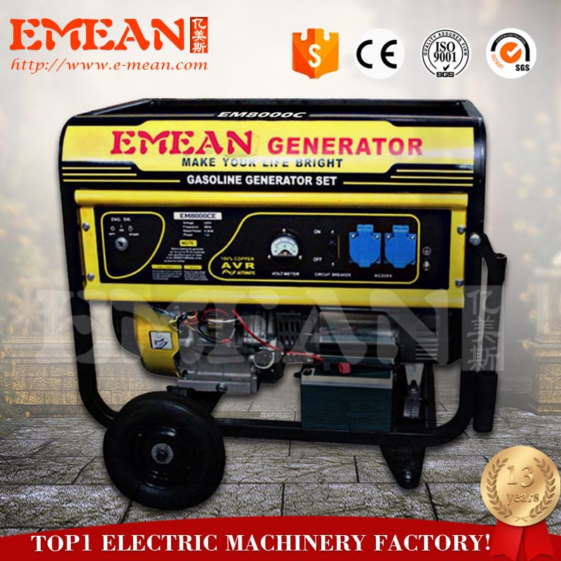 Hot sale 7.5 kva gasoline generator with factory price