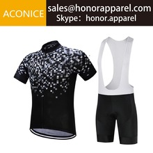 Anti-UV Short Sleeve Cycling and Bib Shorts Set Summer Breathable Bicycle Racing Suits