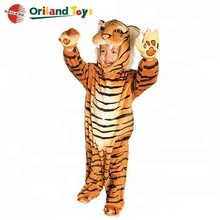 hot sale tiger animal shaped design kids soft plush carnival party costume