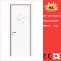 SC-W067 Competitive Price Interior Curved Wooden Door