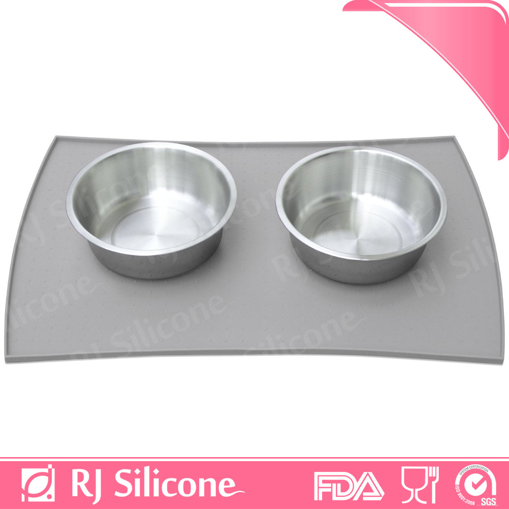 RJSILICONE hot sale dog feeding waterproof cooling pad cat litter bowl training silicone pet food mat