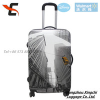 Newest personality city print PC/ABS luggage set